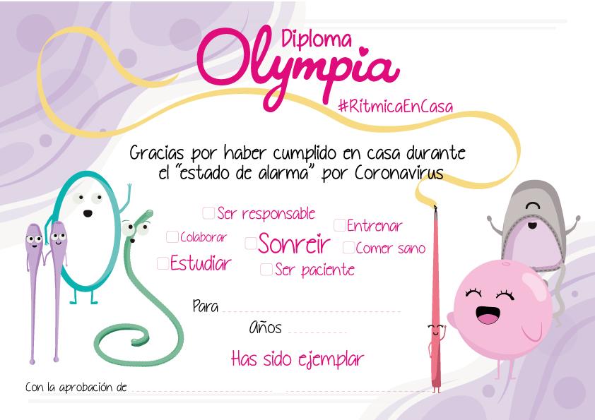Diploma OLYMPIA #RítmicaEnCasa