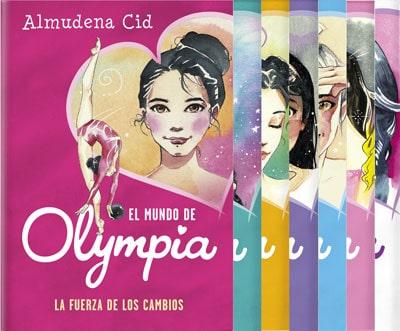 """Cubiertas de los libros publicados de la colección """"El Mundo de Olympia"""""""